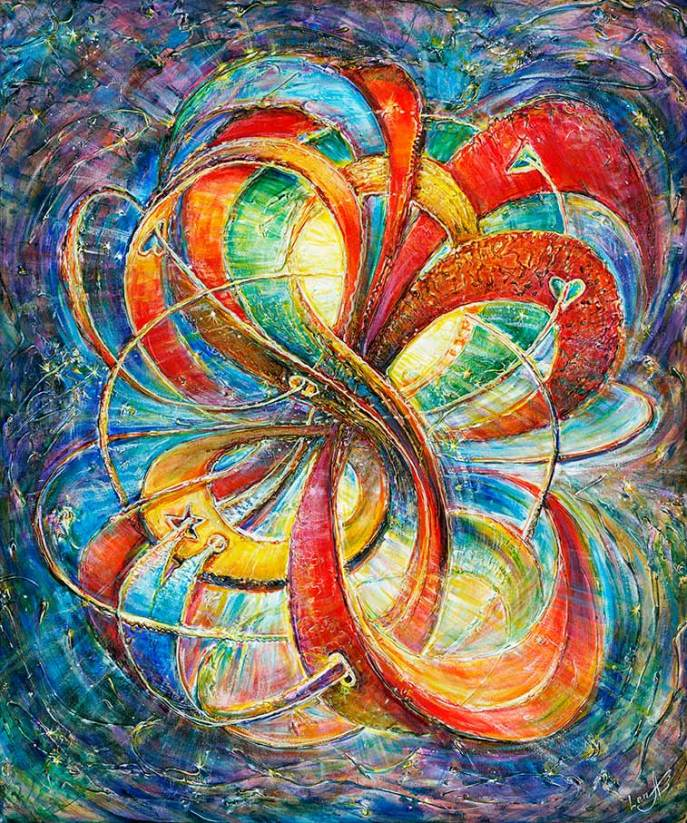 mulitidimentional-eternal-bliss-love-7-good-luck-abstract-art-painting